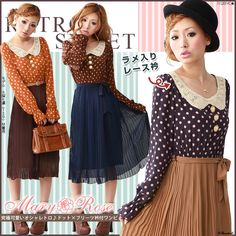 dotted pleated op