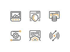 Web Development Icons by Viacheslav Irtyshchev #Design Popular #Dribbble #shots