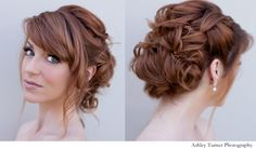 Romantic bridal hair redhead updo by Hair Comes the Bride. My Hairstyle, Fancy Hairstyles, Hairstyles With Bangs, Wedding Hairstyles, Bridal Hairstyle, Bridal Updo, Hair Updo, Bridesmaid Hair, Prom Hair