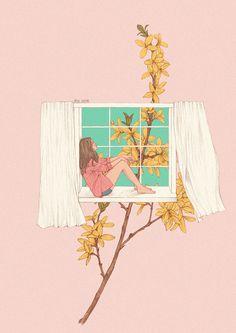 동네 근처 화단에 노란 개나리가 보였어요! 아직 풍성하게 자라기엔 날이 일러서 앙상하게 홀로 깨어난 개나리가 다소 외로워보이긴 했습니다만 그 노란 개나리 한 줄기를 보는 저는 곧 다가올 따뜻한 꽃축제가 기대됩니다^^