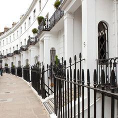 1830's Grade II listed buildings in a London street