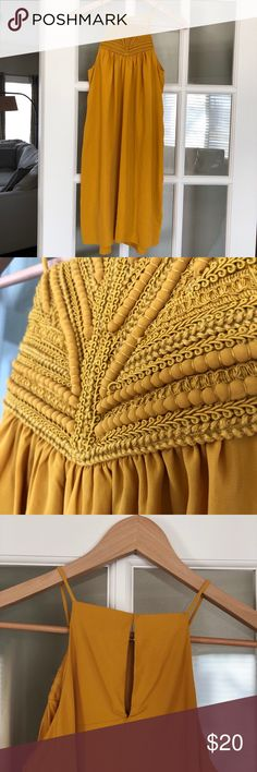 Yellow H&M Dress Only worn once! Beautiful detailing, I'm just down sizing my closet 😋 Send any and all offers!!! H&M Dresses Mini
