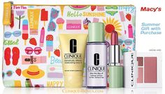 Macys: Summer gift with Clinique products and perfect cosmetics bag! http://clinique-bonus.com/macys/ Online only. With $25 purchase.