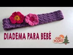 Diadema para bebé a crochet (muy fácil!!) - YouTube