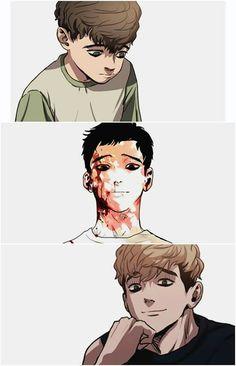 """From a cute smol boi to a total a*hole."" A guide by Oh Sangwoo Manga Anime, Manhwa Manga, Sangwoo Killing Stalking, Yuri, Familia Anime, Killing Me Softly, Handsome Anime Guys, Satsuriku No Tenshi, Image Manga"
