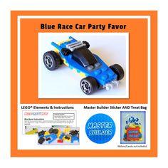 LEGO® Party Favor - Blue Race Car