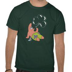 Patrick blowing Shamrock Bubbles T-shirts #stpatricksday #stpattys #stpattysday #zazzle #green #patrickstar #patrick #spongebobsquarepants #shamrock