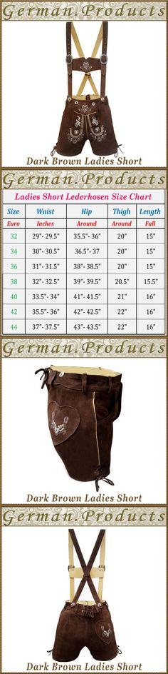 Dirndls 163143: Oktoberfest Lederhosen Ladies Outfit German Bavarian Trachten Women Shorts -Cp22 -> BUY IT NOW ONLY: $36.95 on eBay!