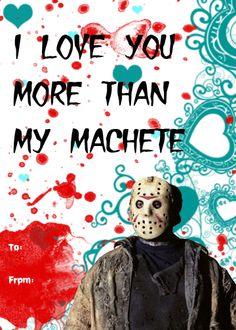 cityofbridges horror movie valentines set 2 of set 1
