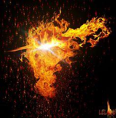 Main en feu