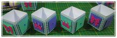 Caixinhas quadradas decoradas para doces 😍😍