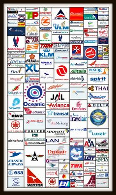 ALL AIRLINE LOGOS - web credit here - http://www.aviationexplorer.com/commercial-airline-logos.html