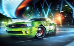 Race car rendered in KeyShot, post in Photoshop by Denis Kornilov...