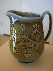 Irish Porcelain Wade Shamrock Pitcher J Borsey Signed Shamrock Inn, Irish Pottery, Irish Tea, Vintage Crockery, Irish Decor, Table Dressing, Irish Design, Irish Pride, Play Clay