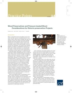 "APT Bulletin - Practice Point  No. 14 ""Wood Preservation and Pressure-treated Wood: Considerations for Historic-preservation Projects"" By: Ronald Anthony and Stan T. Lebow"