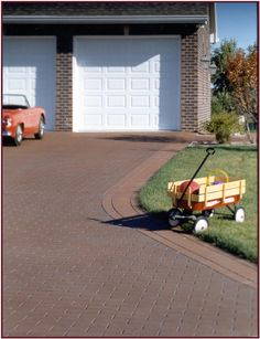 Driveway Impressions specializes in decorative asphalt. We are able to transform ordinary asphalt into authentic looking hand-laid brick, stone, or slate; while also being the most affordable decorative pavement option on the market today. Block Paving Driveway, Asphalt Driveway, Driveway Design, Patio Design, Driveway Ideas, Outdoor Spaces, Outdoor Living, Outdoor Decor, Home Reno