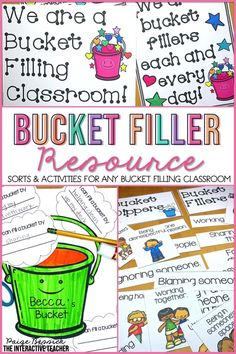 Bucket Filler BUNDLE: Sorts, Activities