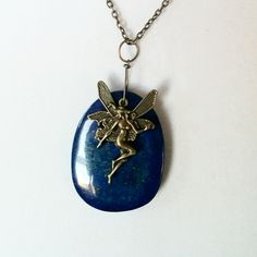 Lapis Lazuli Fairy Necklace by Earthcentricity on Etsy