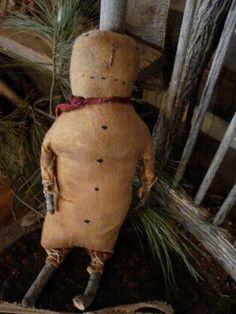 Prim snowman with stick legs