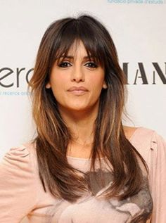 Hairstyles With Bangs Long Layered Hair Style Long Haircuts With Bangs, Long Fringe Hairstyles, Layered Haircuts With Bangs, Long Hair With Bangs, Long Hair Cuts, Hairstyles With Bangs, Pretty Hairstyles, Long Hair Styles, Layered Hairstyles