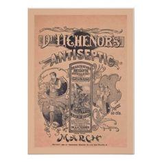 Vintage Medicine Poster Dr Tichenors Antiseptic