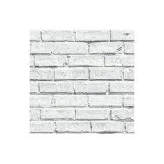 Super trompe-l'œil ! Découvrez le papier peint duplex Lanebrick blanc pas cher qui imite un mur de briques pour donner du style à votre intérieur.