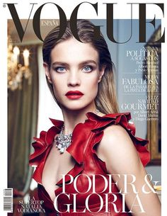 Natalia Vodianova is a Vision in Red on Vogue Spain Cover by Fashion Gone Rogue  #Covers, #Fashion, #Moda, #NataliaVodianova, #Nico, #VogueSpain