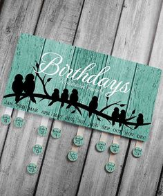 Personalized BIRTHDAY BOARD Rustic Birds Family by ToadAndLily