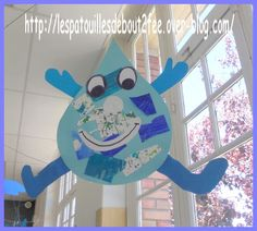 Gouttelette et ses copines Weather Crafts, Save Mother Earth, Preschool Crafts, Activities For Kids, Projects To Try, Classroom, Symbols, Letters, Our World