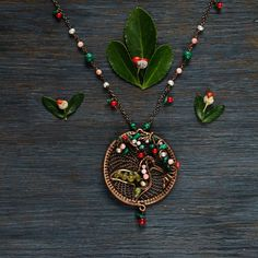Medallion with hummingbird