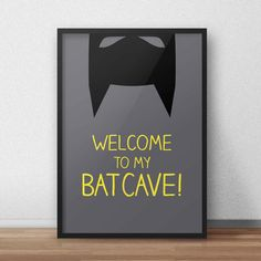 Batman print/nursery superhero poster by HappyBubbleDesign on Etsy