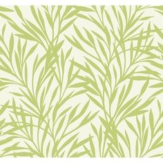 Graphic leaf motifs climb across a solid background to create a botanical wallpaper design. The organic forms of nature are the inspiration for this two-tone, graphic print. Unique patterns and bold colors always make a room feel more vibrant and lum Botanical Wallpaper, Of Wallpaper, Green Colors, Bold Colors, Leaf Silhouette, Solid Background, Tree Patterns, Organic Form, Spring Green