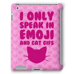 I Only Speak In Emoji And Cat Gifs #tumblr #internet #cat #gif #emoji #reblog #ironic #awkward
