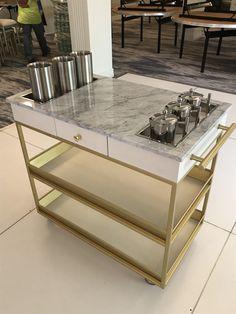 Custom DBG White and Brass Dessert Cart