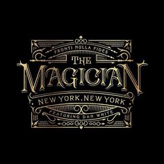 Logo designed for @theory11 and The NoMad Hotel for their upcoming show THE MAGICIAN which starts March 27th. Visit NoMadUpstairs.com for more info and a wicked teaser video