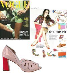 Mistura de Tons - Revista Vogue  #guilhermina #sapatodeluxo #guilhermina_shoes #trend #Verao2013 #moda #calcadosfemininos #shoes #vogue #misturadetons