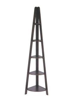 OSP Designs Corner Shelves Ladder Bookcases Espresso Bookshelves Display Storage #HomeStar
