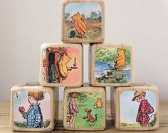 Wood Book Blocks for the Littlest Bookworms by StorybookBlocks