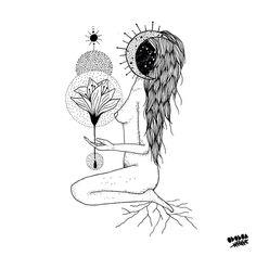 ...ou talvez porque somos alquimistas e alguns de nós lembram-se e outros estão começando a se lembrar que a noite e a mulher são um preenchidos com o mesmo infinito de possibilidades. ~ . #mulheresartistas #mamamoon #sagradofeminino #ododua #arte #female #vulvapower #consciencia #divinefeminine #deusa #womb #goddess #tribedemama #womban #blackwork #partonatural #cosmicart #artesagrada #conscienciacosmica #autoconhecimento #empoderamentofeminino #feminismo
