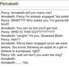 Annabeth really have to be greedy for the ring? Lol's