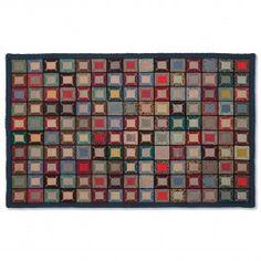 Postage Stamp primitive quilt