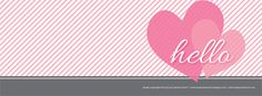 Hello Hearts Facebook Timeline Cover Image Freebie by The Spotted Olive™.