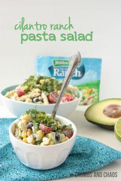 Cilantro Ranch Pasta Salad - Crumbs and Chaos