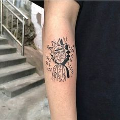 Search inspiration for a Geometric tattoo. Gangsta Tattoos, Dope Tattoos, Arm Tattoos, Body Art Tattoos, Tatuaje Rick And Morty, Rick And Morty Tattoo, Small Tattoos For Guys, Cool Small Tattoos, Ricks Tattoo