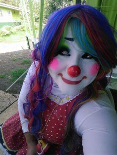 Female Clown, Cute Clown, Clown Faces, Folk, Halloween Face Makeup, Girls, Life, Characters, Clowns