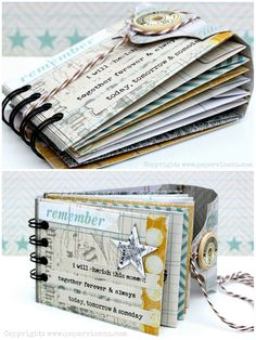 brief instructions for making this envelope mini album with links to patterns/templates she used