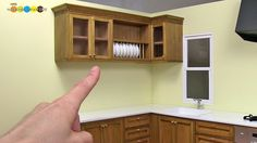 tutorial: miniature kitchen wall cabinets