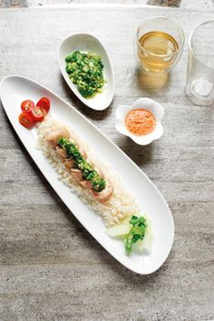 Poached Chicken Roulade with Hainanese Chicken Rice by Chef Eric