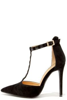 Square-dy Cat Black Studded Pointed Pumps #shoes #covetme