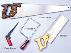 General Types of Hand Saws